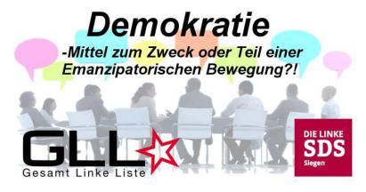 Demokratie – Mittel zum Zweck oder Teil einer Emanzipatorischen Bewegung?!