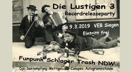 Schlager & Punkparty mit den Lustigen 3