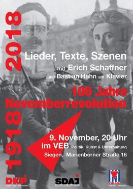 1918–2018: 100 Jahre Novemberrevolution – Lieder, Texte, Szenen